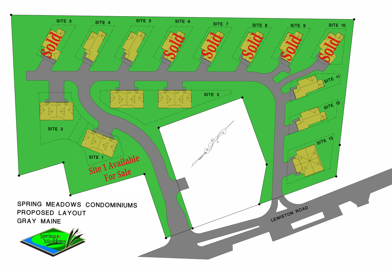 Lot Map Spring Meadow Estates by Grand Builders